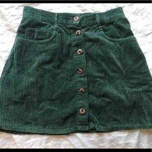 Vintage metropolitan Corduroy Green skirt 🌈